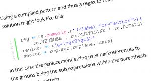 Python grouping regex
