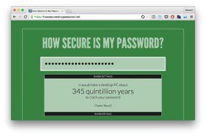 howsecureismypassword.net