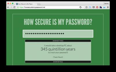 Wachtwoord kwaliteit testen?